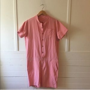 Vintage Cotton Coverall Romper Jumpsuit Shorts